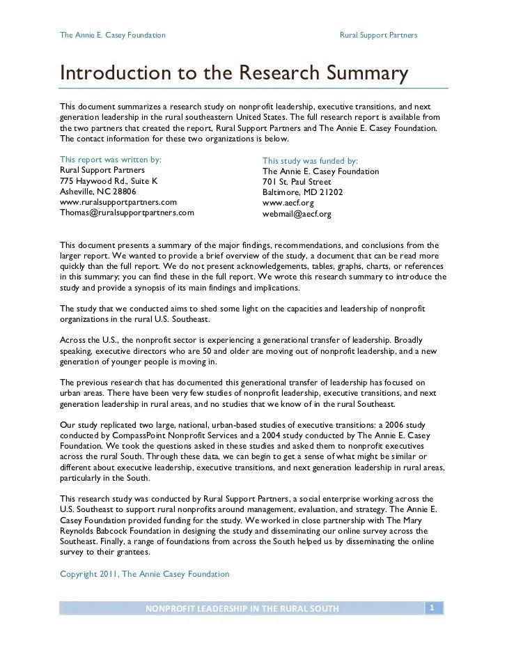 executive summary example for report - Goalgoodwinmetals