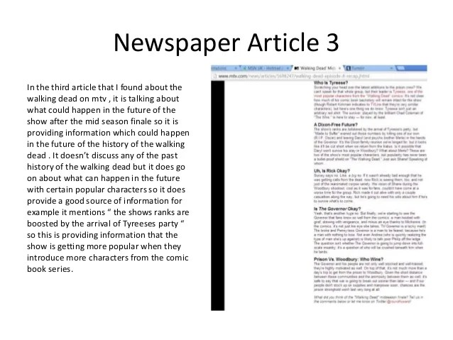 newspaper article summary template - Onwebioinnovate - article summary template