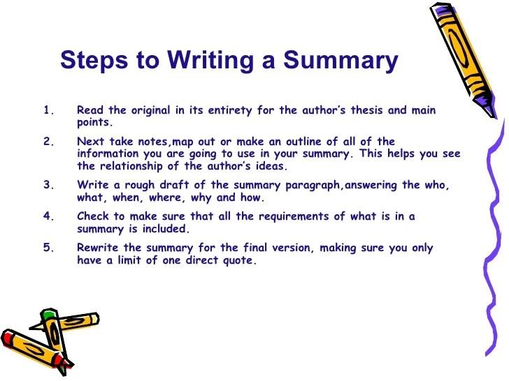 Summary Skills