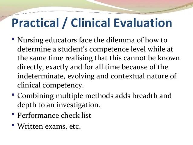 sample nursing student evaluation comments