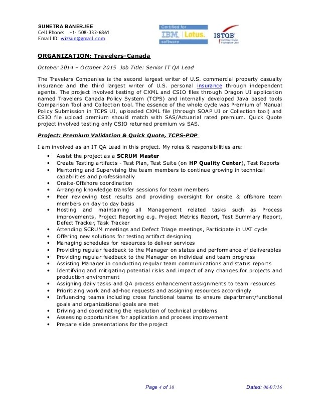 insurance qa resume professional resumes sample online