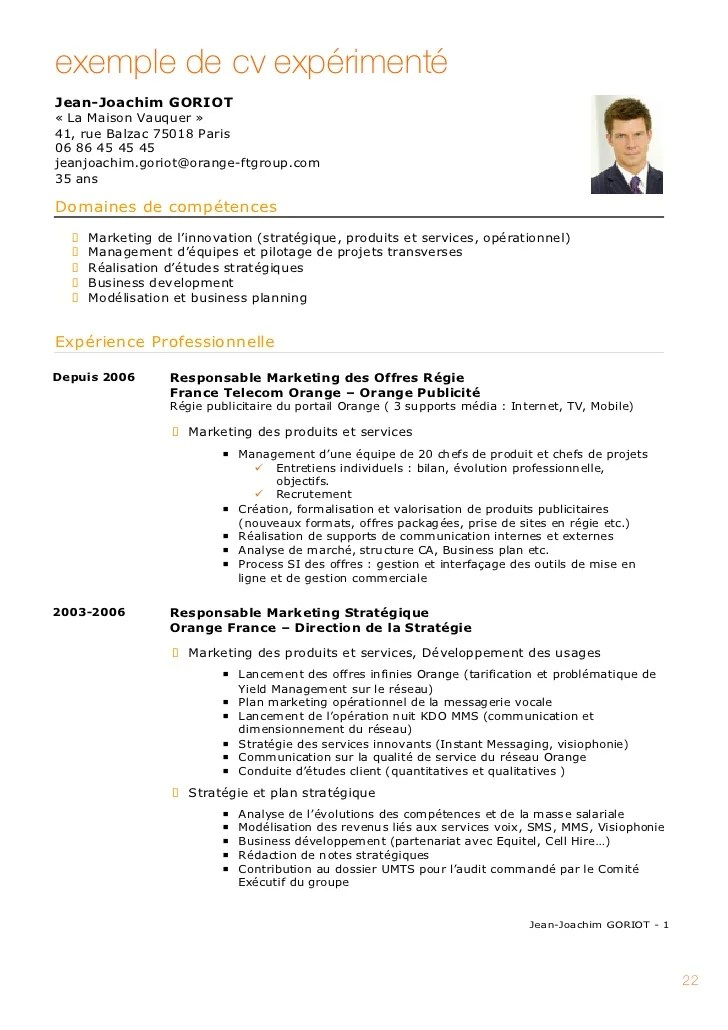 competence de communication cv