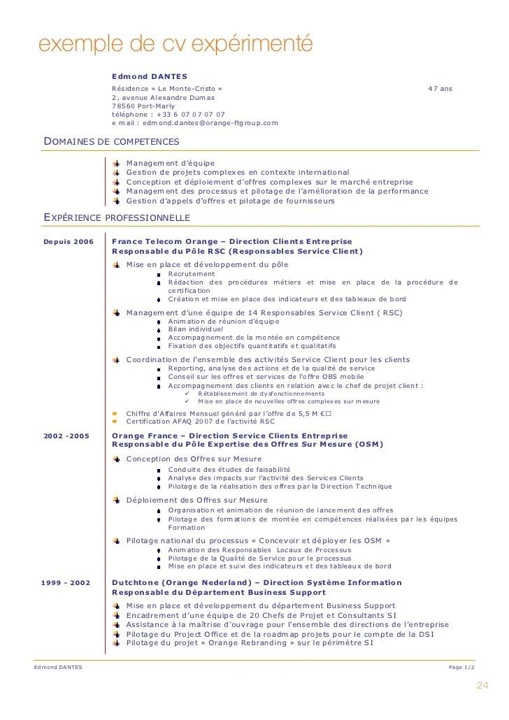 modele cv experimente competences