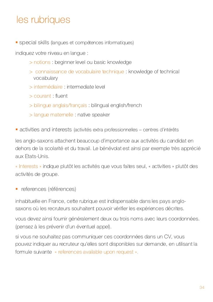 niveau de langue cv native speaker