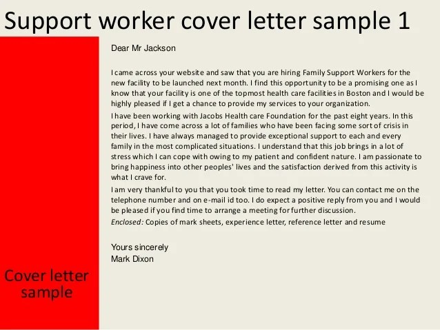 cover letter example the balance family support worker cover letter