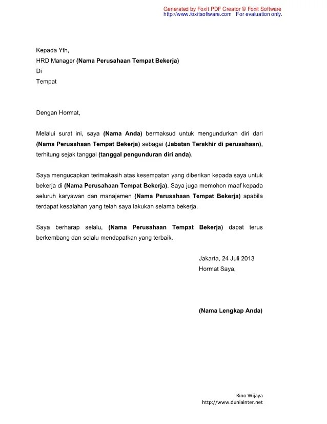 Cover Letter Creator | Application Letter Beserta Terjemahan
