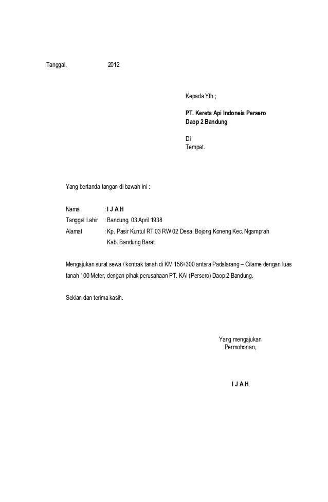 Pendaftaran Pjka Pt Kereta Api Persero Pusat Info Bumn Cpns 2016 Contoh Surat Permohonan Izin Tempat Newhairstylesformen2014