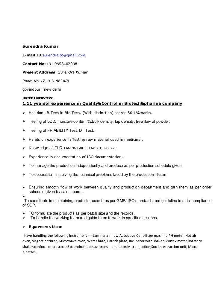 quality control resume samples - Minimfagency