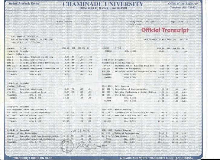 university of phoenix transcripts