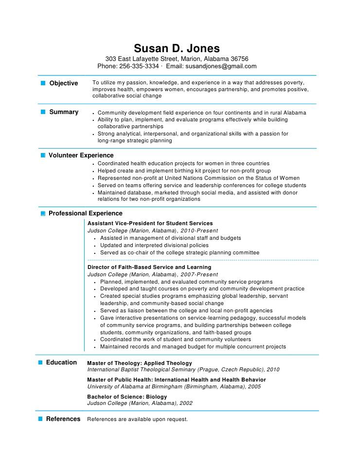 one page resume format markushenritk