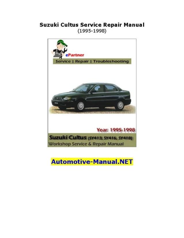 1995 suzuki baleno service manual download