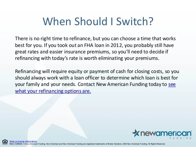 Switching from an FHA to a Conventional Loan | New American Funding