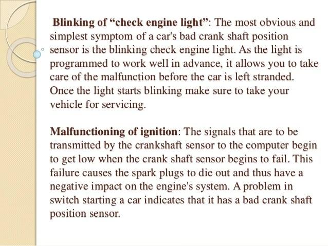 bad crank position sensor symptoms