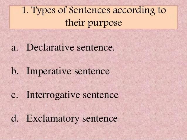 4 types of sentences - Nisatasj-plus