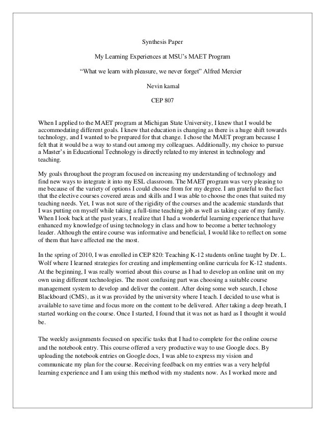 Sample of synthesis essay essay question examples synthesis essay