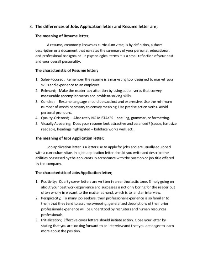 Application Letter Meaning - Cover letter