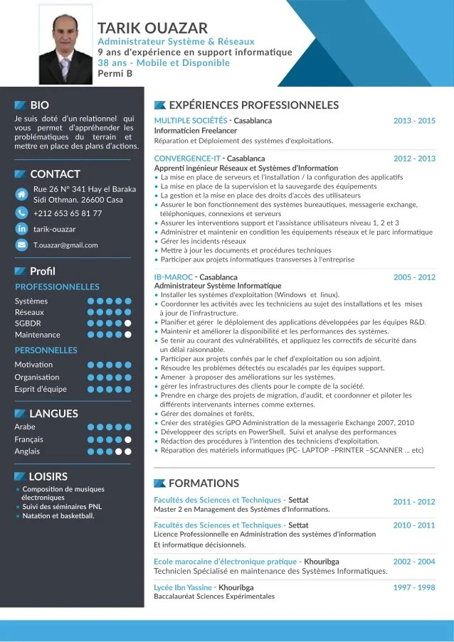 cv informatique web