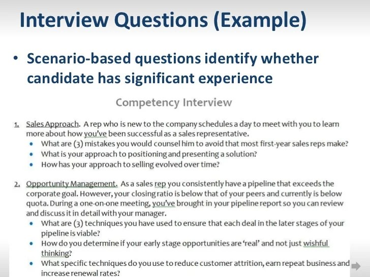 scenario interview questions - Josemulinohouse