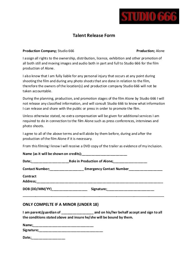 Beautiful Contract Release Form Ideas  Best Resume Examples By