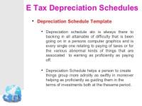 Tax depreciation schedule calculator