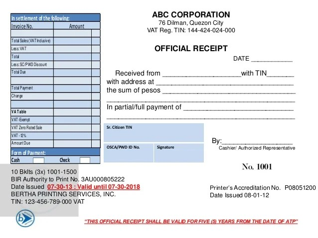 Sales Invoice Official Receipt Entrepreneur Philippines Tax Forum With Real Estate Practitioners