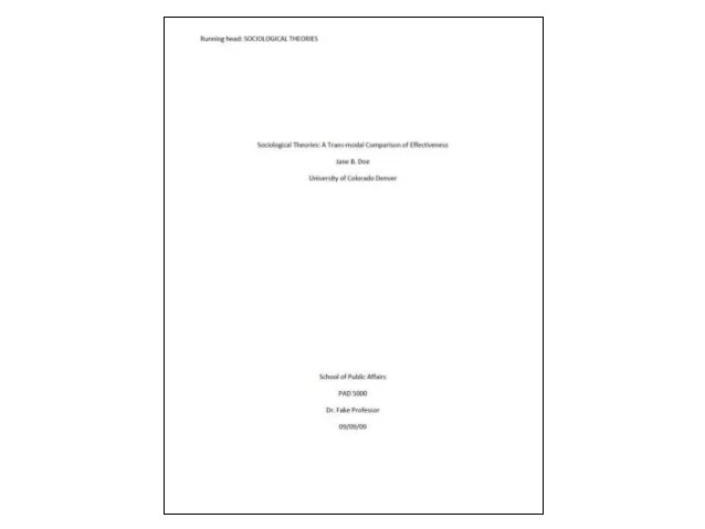 Apa Format Cover Page College Paper Andrian James Blog