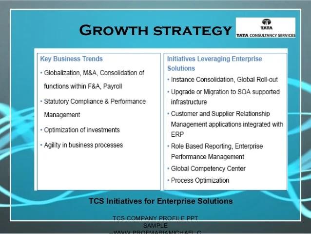 Business Powerpoint Templates Presentation Slides Ppt Tcs Company Profile Presentation Sample