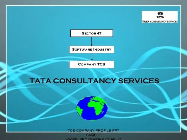 Company Profile Powerpoint Presentation Slides Tcs Company Profile Presentation Sample