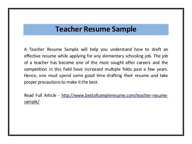 cv for teacher job - Romeolandinez - sample cv for teacher job