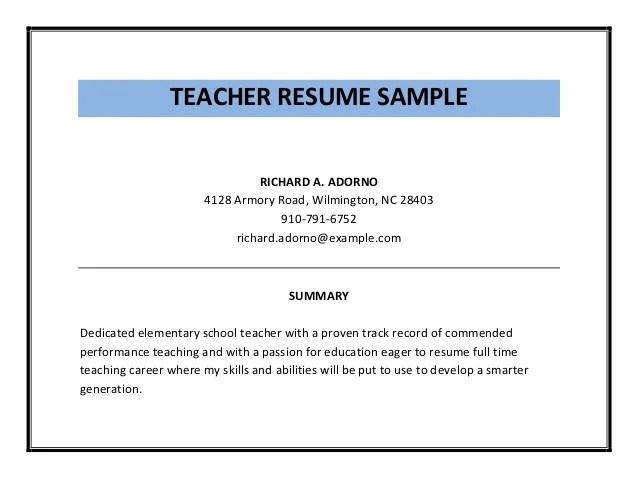 teacher resume pdf - Yenimescale - pdf resume sample