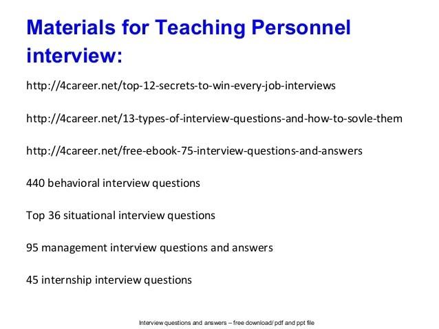 teacher interview answers - Goalgoodwinmetals - interview questions for teachers