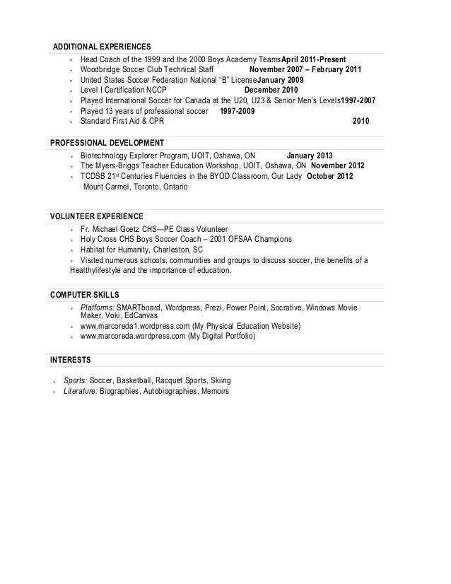 resume for soccer coach - Goalgoodwinmetals