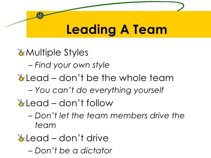 how to be a good team leader - Josemulinohouse
