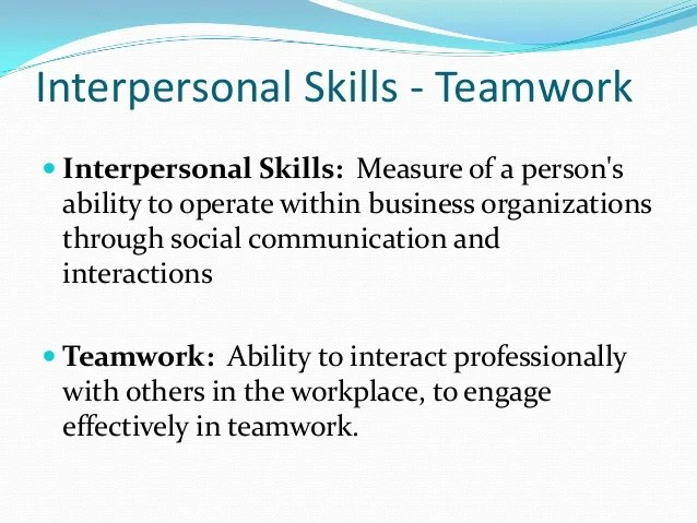 Resume Skills Interpersonal Interpersonal Skills List And Examples The Balance Team Work And Interpersonal Skills
