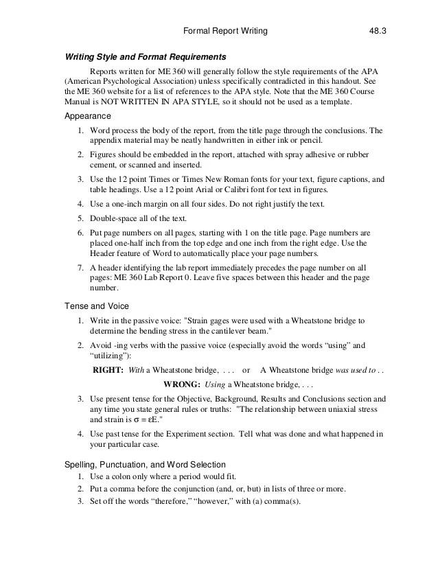 report style format - Josemulinohouse