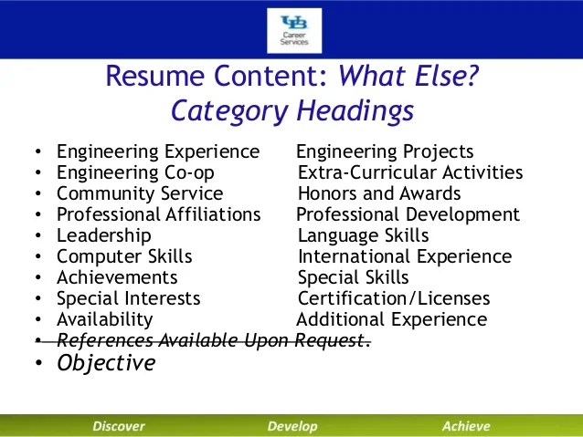 extra curricular activities in resumes