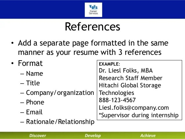 resume references relationship example