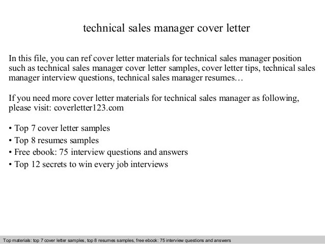 technical manager cover letter - Ukransoochi