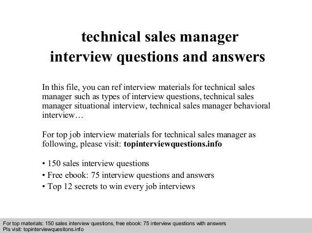 technical manager interview questions - Onwebioinnovate