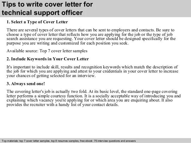 technical officer cover letter - Doritmercatodos