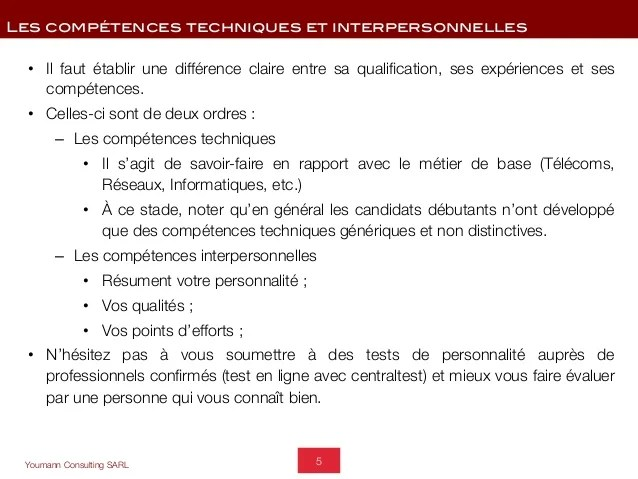 difference entre competences et qualites cv