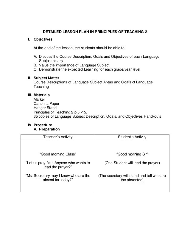 weekly lesson plan template one subject - Baskanidai - sample weekly lesson plan