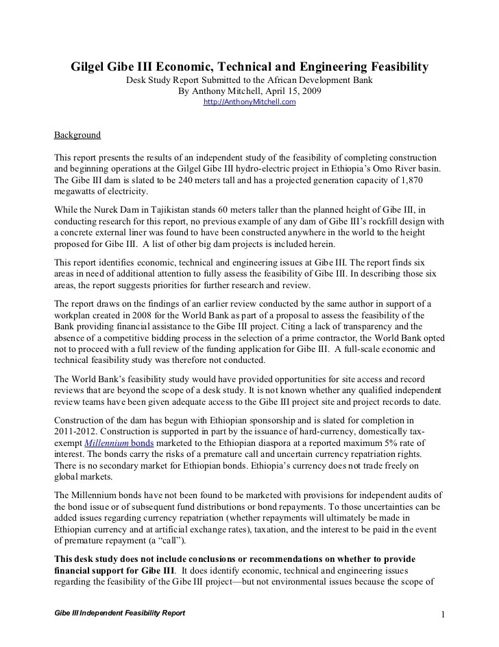Sample Engineering Feasibility Study | Cover Letter Template Purdue
