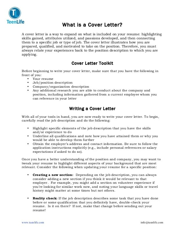 what is a cover letters - Konipolycode