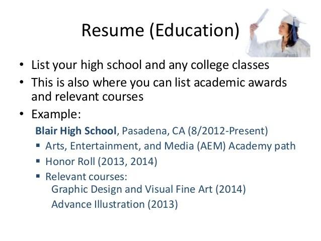 Listing High School Education On Resume Examples   Bio Data Maker