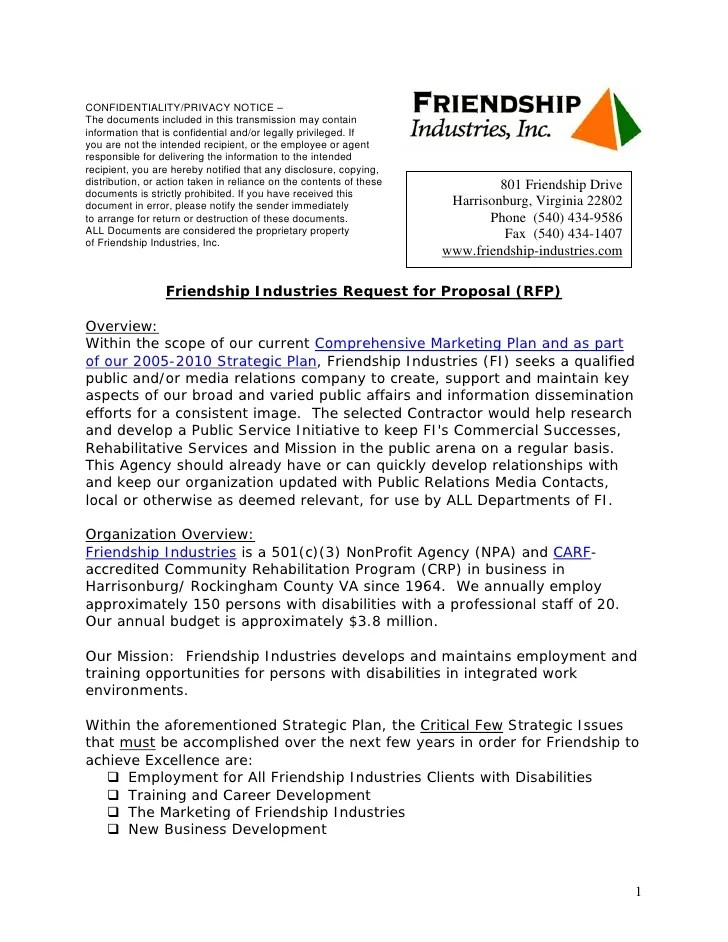 Rfp Cover Letter Request For Proposal Response Cover Letter
