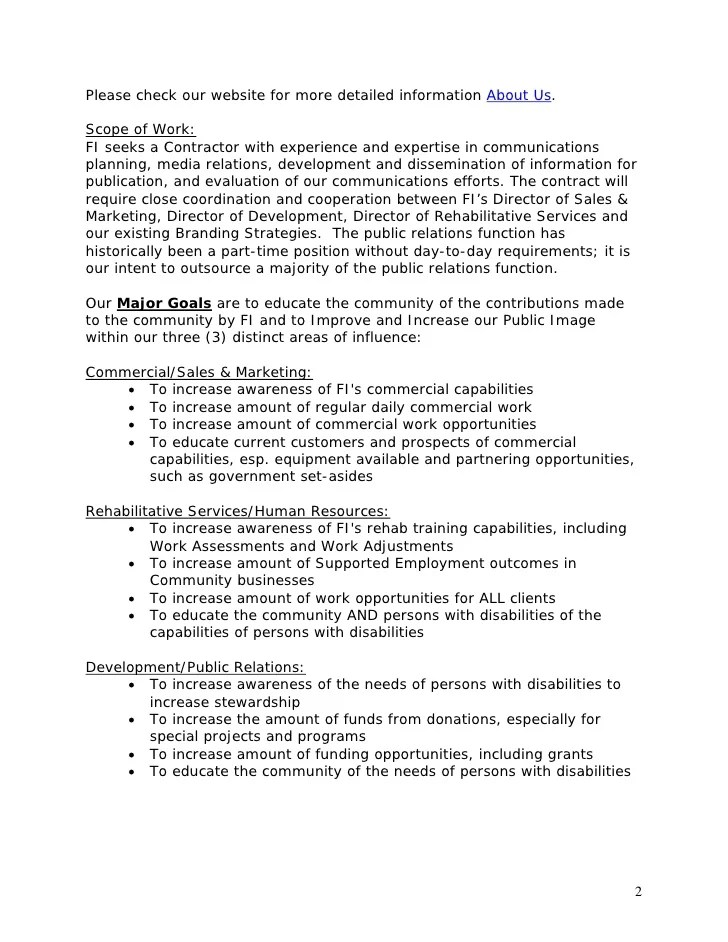 Work Experience Resume Format Professional Experience Template Public Relations Rfp