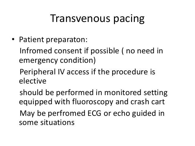 transvenous pacing