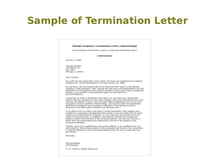 Printable School Bus Service Termination Letter Template Sample