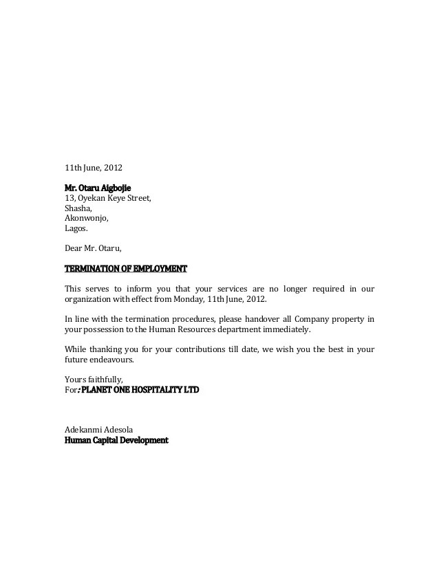 Insurance Contract Termination Letter Sample Curriculum Vitae En